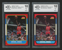 Lot of (2) BCCG Graded 10 Michael Jordan Basketball Cards with 1996-97 Fleer Decade of Excellence #4 & 1996-97 Ultra Decade of Excellence #U4 at PristineAuction.com