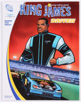 """2005 LeBron James """"King James Driven"""" 21.75x34.25 DC Comic Book Poster at PristineAuction.com"""