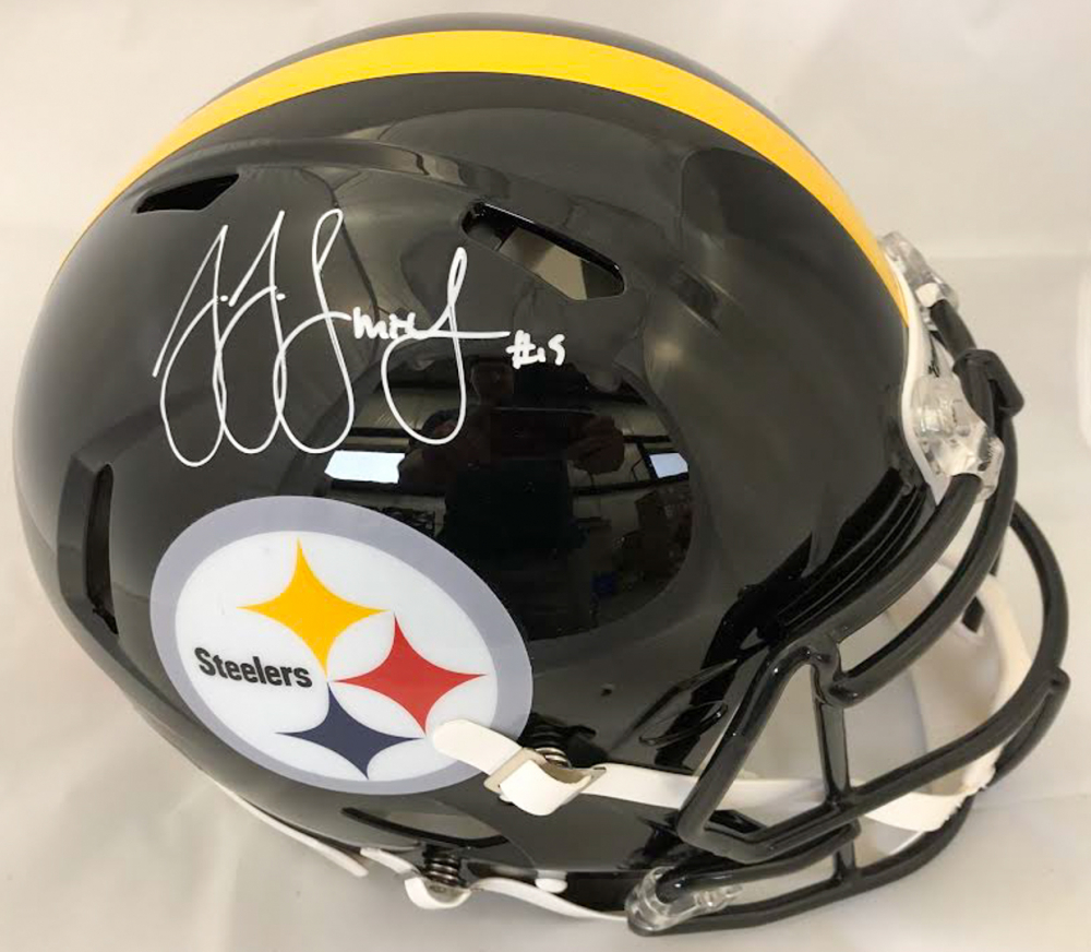 e1747828768 JuJu Smith-Schuster Signed Pittsburgh Steelers Full-Size Authentic On-Field  Speed Helmet