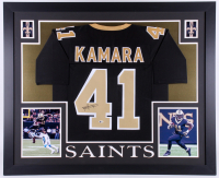 Alvin Kamara Signed 35x43 Custom Framed Jersey (Beckett COA) at PristineAuction.com
