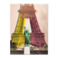 """Ringo Signed """"Eiffel Tower"""" 12x16 One-of-a-Kind Mixed Media Painting on Canvas at PristineAuction.com"""