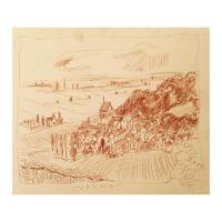 "Wayne Ensrud Signed ""Volnay, Burgundy"" 15x18 Pastel Original Artwork at PristineAuction.com"