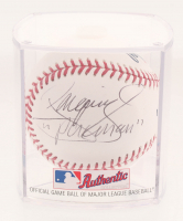 """Manny Pacquiao Signed OML Baseball Inscribed """"Pacman"""" with Display Case (Beckett Hologram)"""