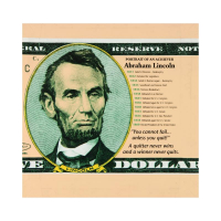 "Steve Kaufman Signed ""Portrait of an Achiever Abe Lincoln"" Limited Edition 20x20 Silkscreen on Canvas #75/200 at PristineAuction.com"
