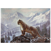 """Sergey Goncharenko Signed """"On the Mountain"""" 35x24 Original Oil on Canvas at PristineAuction.com"""