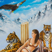 """Eugene Poliarush Signed """"Queen Erica"""" 30x24 Original Oil on Canvas at PristineAuction.com"""