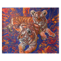 "Vera V. Goncharenko Signed ""Big Wild Cats"" 39x31 Original Oil on Canvas at PristineAuction.com"