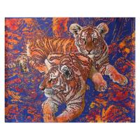 "Vera V. Goncharenko Signed ""Big Wild Cats"" 39x31 Original Oil on Canvas at PristineAuction.com"