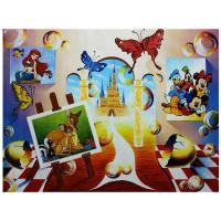 "Alexander Astahov Signed ""Journey to Disneyland"" 30x40 Original Oil on Canvas at PristineAuction.com"