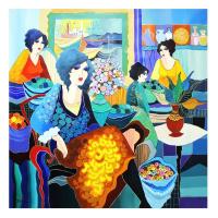 "Patricia Govezensky Signed ""The New Life I Have Found"" 40x40 Original Acrylic on Canvas"
