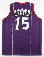 Vince Carter Signed Toronto Raptors Throwback Jersey (Beckett COA)