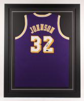 Magic Johnson Signed 35x43 Custom Framed Jersey (Radtke COA) at PristineAuction.com