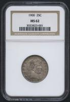 1900 25¢ Barber Quarter (NGC MS 62)