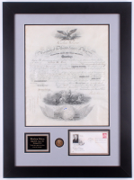 Woodrow Wilson Signed 22.5x30.5 Custom Framed Original Naval Appointment Official Document (JSA LOA)