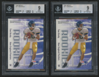 Lof of (2) 2000 Impact #27 Tom Brady RC (BGS 9)