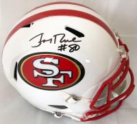 65b39fe6d Jerry Rice Signed San Francisco 49ers Full-Size Speed Helmet (Beckett COA)