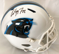 Christian McCaffrey Signed Carolina Panthers Full-Size Speed Helmet (Beckett COA)
