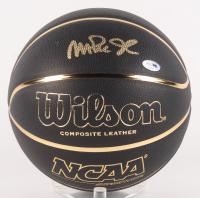 Magic Johnson Signed NCAA Black Basketball (PSA COA)
