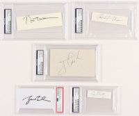 Lot of (5) Former President Signed Cuts Including George W. Bush, George H.W. Bush, Bill Clinton, Richard Nixon & Jimmy Carter (PSA Encapsulated)