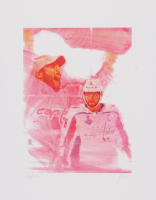 Alex Ovechkin Capitals 11x14 Limited Edition Fine Art Print by John Yim #/100 at PristineAuction.com