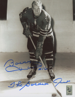 "Bobby Hull Signed Chicago Blackhawks 8x10 Photo Inscribed ""The Golden Jet"" (Hull Hologram)"