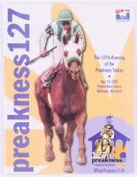 2002 Preakness Stakes Magazine Signed by (13) with Robby Albarado, Chris Mccaron, Jerry Baily, Edgar Prado (Your Sports Memorabilia Store COA)