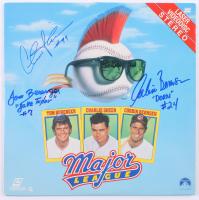 "Tom Berenger, Charlie Sheen, & Corbin Bernsen Signed ""Major League"" LaserDisc Album Inscribed ""Jake Taylor"" & ""Dorn"" (PSA LOA)"