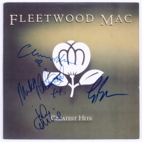 "Fleetwood Mac ""Greatest Hits"" Vinyl Record Album Cover Band-Signed by (4) with Mick Fleetwood, John McVie, Christine McVie & Lindsey Buckingham (JSA ALOA)"