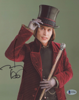 "Johnny Depp Signed ""Charlie and the Chocolate Factory"" 8x10 Photo (Bekcett COA)"