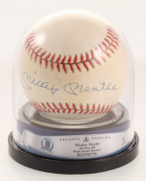 Mickey Mantle Signed OAL Baseball (Beckett Encapsulated)