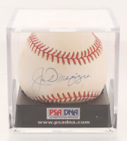 Joe DiMaggio Signed OAL Baseball with Display Case (PSA LOA)