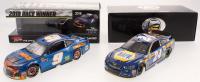 Lot of (2) Chase Elliott LE 1:24 Scale Die-Cast Cars with (1) #9 SunEnergy1 Blue Watkins Glen Win Autographed 2018 Camaro & (1) #24 NAPA 2017 SS Elite (JSA COA)