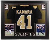 Alvin Kamara Signed New Orleans Saints 35x43 Custom Framed Jersey (Beckett COA)