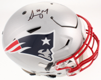 Sony Michel Signed New England Patriots Full-Size Authentic On-Field Speed Flex Helmet (Beckett COA)