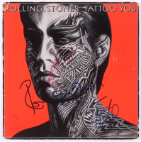 "Keith Richards, Ronnie Wood & Charlie Watts Signed The Rolling Stones ""Tattoo You"" Vinyl Record Album (JSA LOA)"