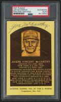 Joe McCarthy Signed Gold Hall of Fame Plaque Postcard (PSA Encapsulated)