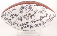 1985 Chicago Bears Super Bowl XX Football Team-Signed by (42) With Mike Singletary, Walter Payton, Dan Hampton, Jim McMahon (Steiner COA)