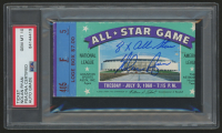 "Nolan Ryan Signed 1968 All-Star Game Ticket Inscribed ""8x All-Star"" (PSA Encapsulated)"