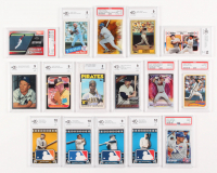 Lot of (16) Graded Baseball Cards with Ken Griffey Jr., Mickey Mantle, Babe Ruth, Ty Cobb, Jackie Robinson, Nolan Ryan