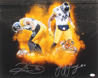 Hines Ward & JuJu Smith-Schuster Signed Pittsburgh Steelers 16x20 Photo (TSE COA)