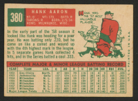 1959 Topps #380 Hank Aaron at PristineAuction.com