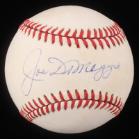 Joe DiMaggio Signed OAL Baseball (Beckett LOA)