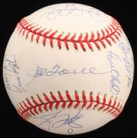 New York Yankees 1998 World Series Logo Baseball Signed by (19) with Derek Jeter, Mariano Rivera, Joe Torre, Paul O'Neil (Steiner COA)