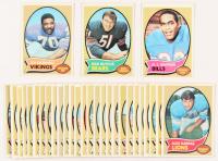 Lot of (30) 1970 Topps Football Cards with #90 O.J. Simpson RC, #190 Dick Butkus, & #213 Jim Marshall