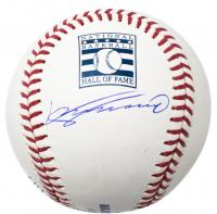 Vladimir Guerrero Signed Hall of Fame Logo Baseball with Cube Display Case (JSA COA)