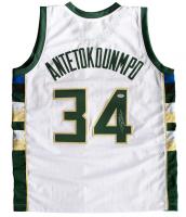 "Giannis Antetokounmpo Signed Milwaukee Bucks ""Greek Freak"" Jersey (PSA COA)"