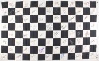 NASCAR Checkered Flag Signed by (60+) with Dale Earnhardt Sr., Richard Petty,  Dale Earnhardt Jr., Jeff Gordon, A.J. Foyt, Rusty Wallace, Mark Martin (JSA ALOA)