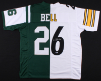 Le'Veon Bell Signed New York Jets / Pittsburgh Steelers Split Jersey (Beckett COA)