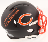 Mike Ditka Signed Chicago Bears Custom Matte Black Speed Mini Helmet (JSA COA)