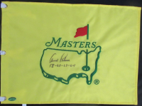 "Arnold Palmer Signed Masters Pin Flag Inscribed ""58-60-62-64"" (Beckett LOA)"
